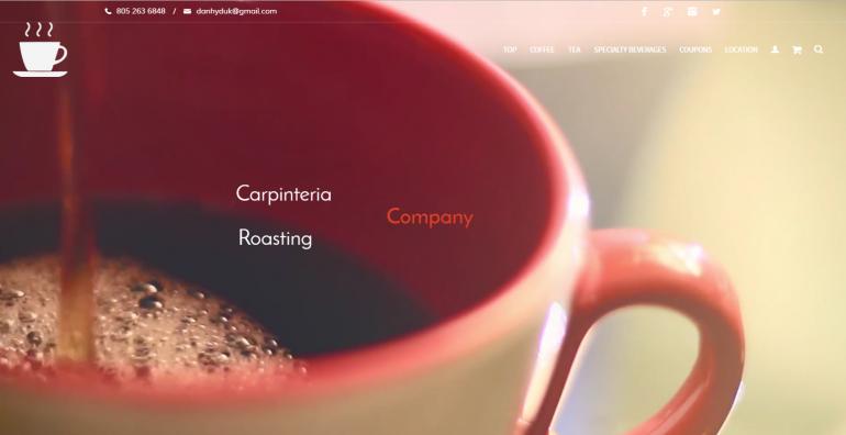 carp roasting company home page